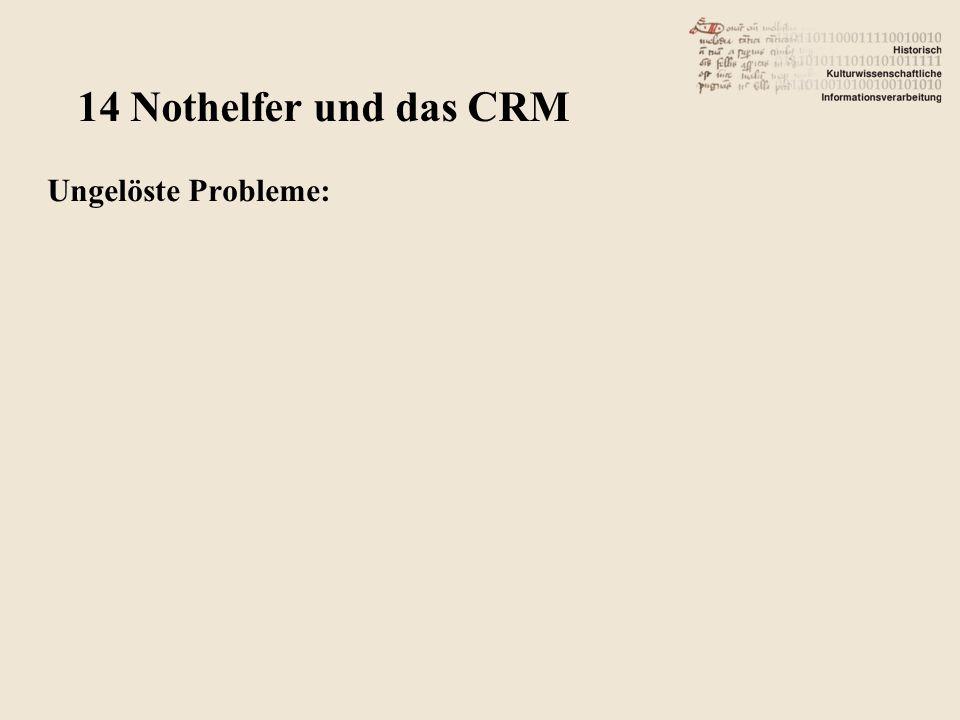 Ungelöste Probleme: 14 Nothelfer und das CRM