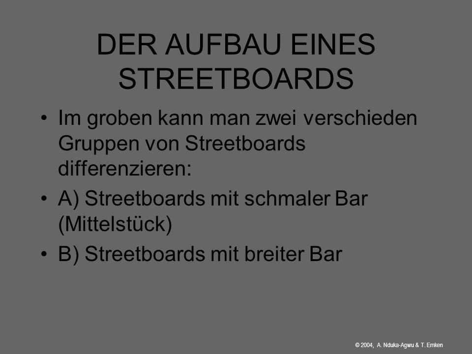 © 2004, A. Nduka-Agwu & T. Emken Das erste Streetboard