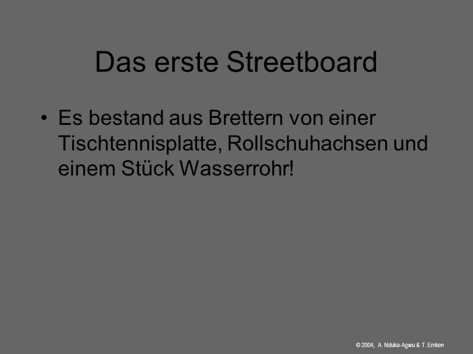 Streetboarding Geschichte Aufbau Bewegungsablauf Tricks