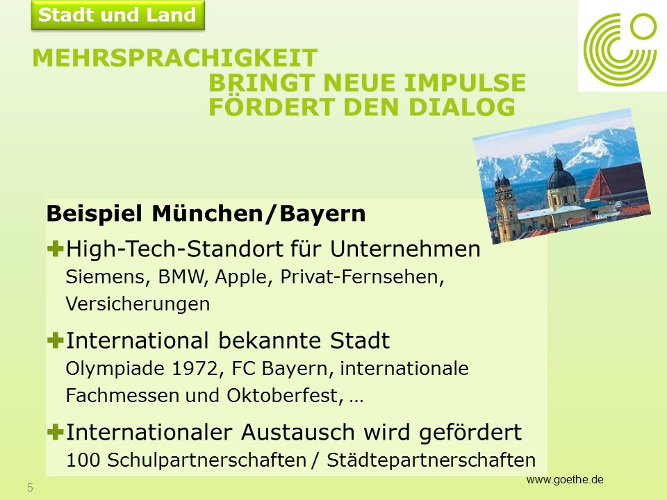Größte Buchmesse in Frankfurt 26 Aus: Auswärtiges Amt Motivation, Deutsch zu lernen KUNST & KULTUR Größte Kunstmesse in Basel TOKIO HOTEL FC BAYERN BAUHAUS