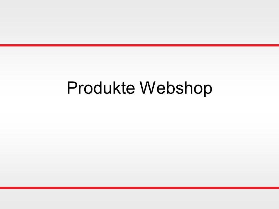 Produkte Webshop