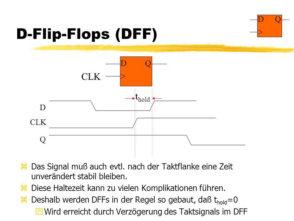 D-Flip-Flops (DFF) zDas Signal muß auch evtl.
