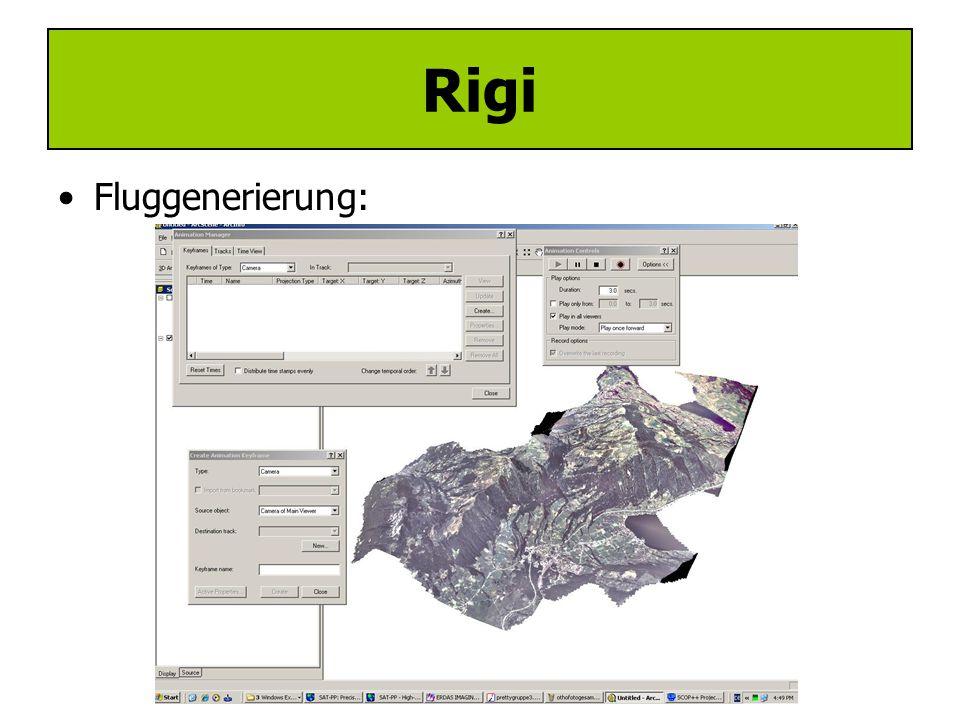 Rigi Anwendungen: –Texturiertes Höhenmodell