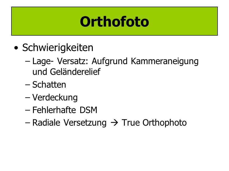 Verfahren –(Direkte Methode) –Indirekte Methode: Orthobild  DTM  Kollinearitätsgleichung  Grauwertinterpolation Orthofoto