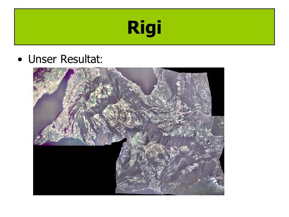 Mosaikierung –Zusammensetzung mehrerer Orthobilder –Voraussetzung: Ein einheitliches Koordinatensystem –Rigi: Wegen Zeitmangel von Assistenz durchgeführt Rigi