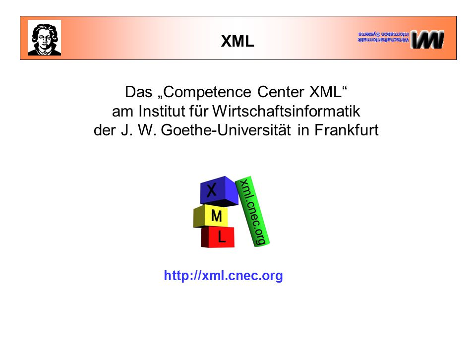 XML Schemata - Datentypen Schemata erlauben die Definition von Datentypen (  Typenvalidierung) Während der Validierung wird der Datentyp überprüft.