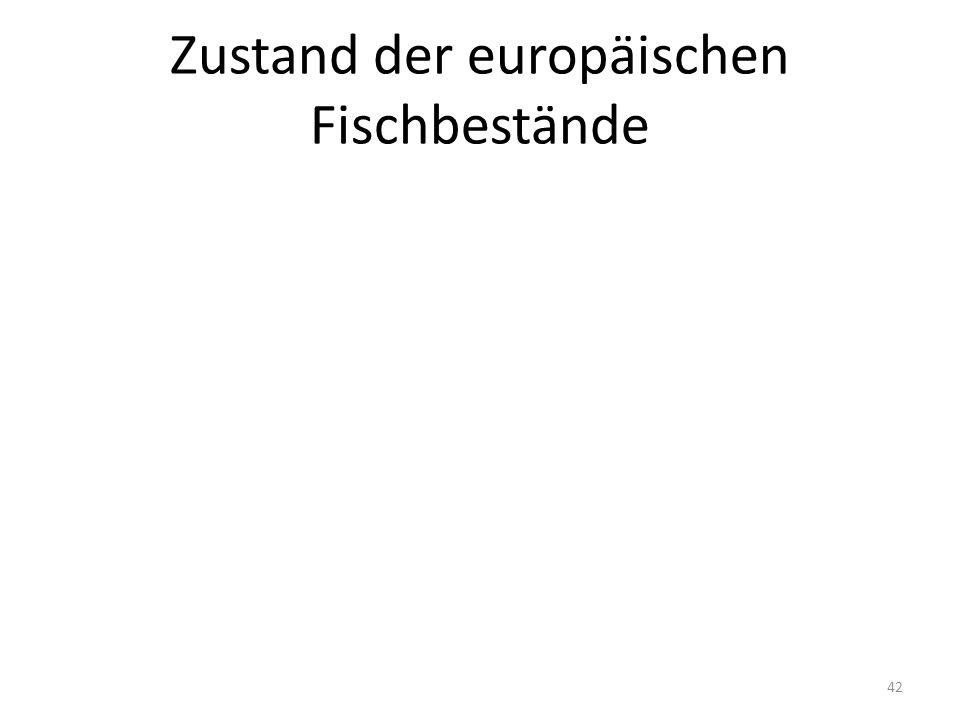 Zustand der europäischen Fischbestände 42