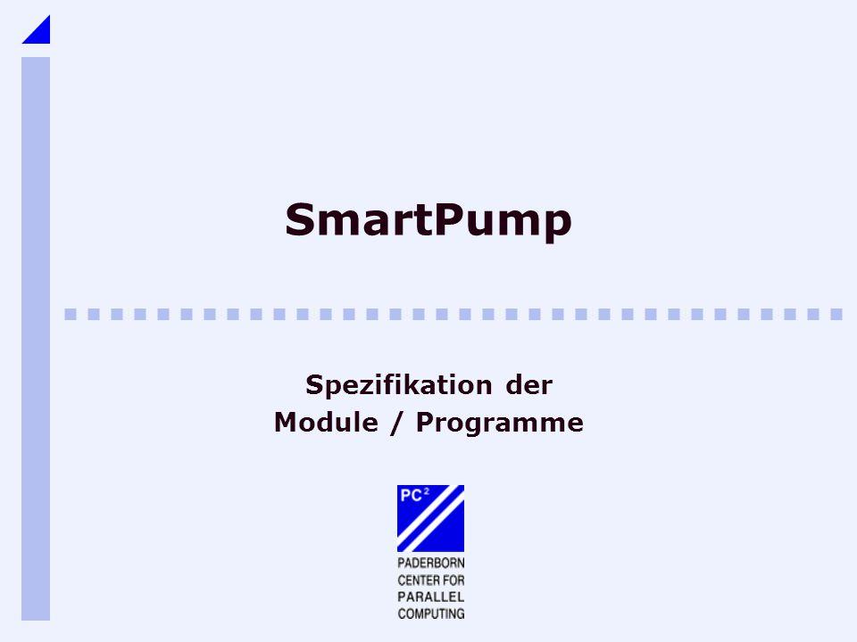 SmartPump Spezifikation der Module / Programme