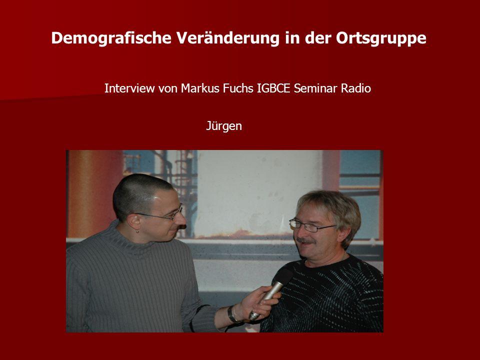 Demografische Veränderung in der Ortsgruppe Interview von Markus Fuchs IGBCE Seminar Radio Dietmar