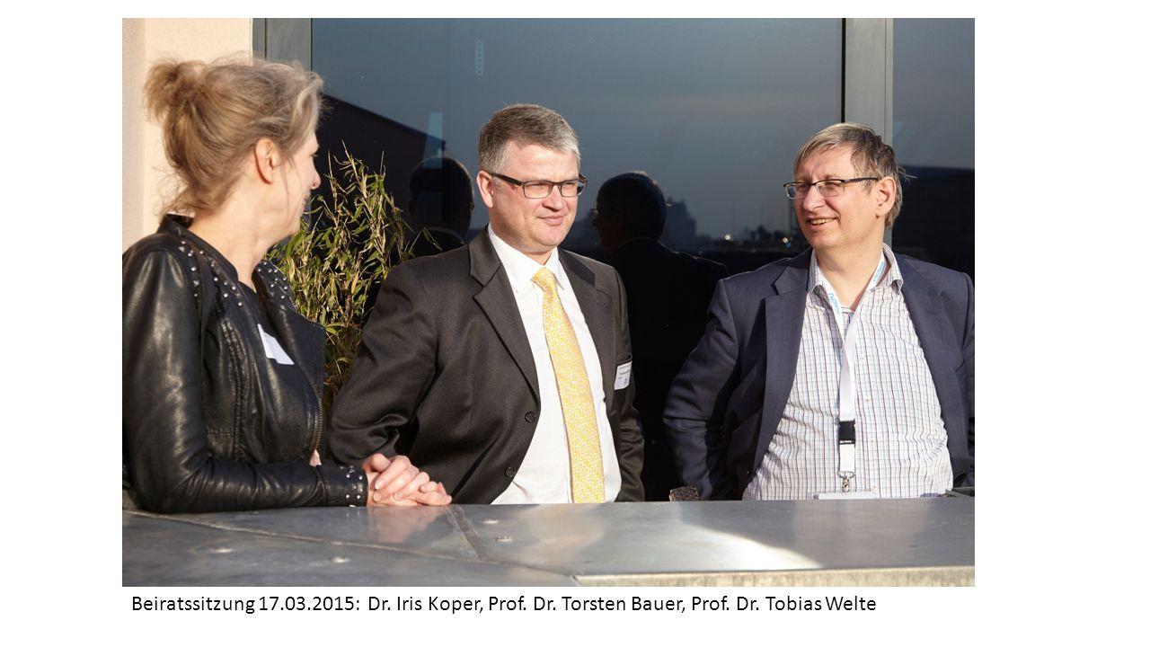 Beiratssitzung 17.03.2015: Dr. Iris Koper, Prof. Dr. Torsten Bauer, Prof. Dr. Tobias Welte