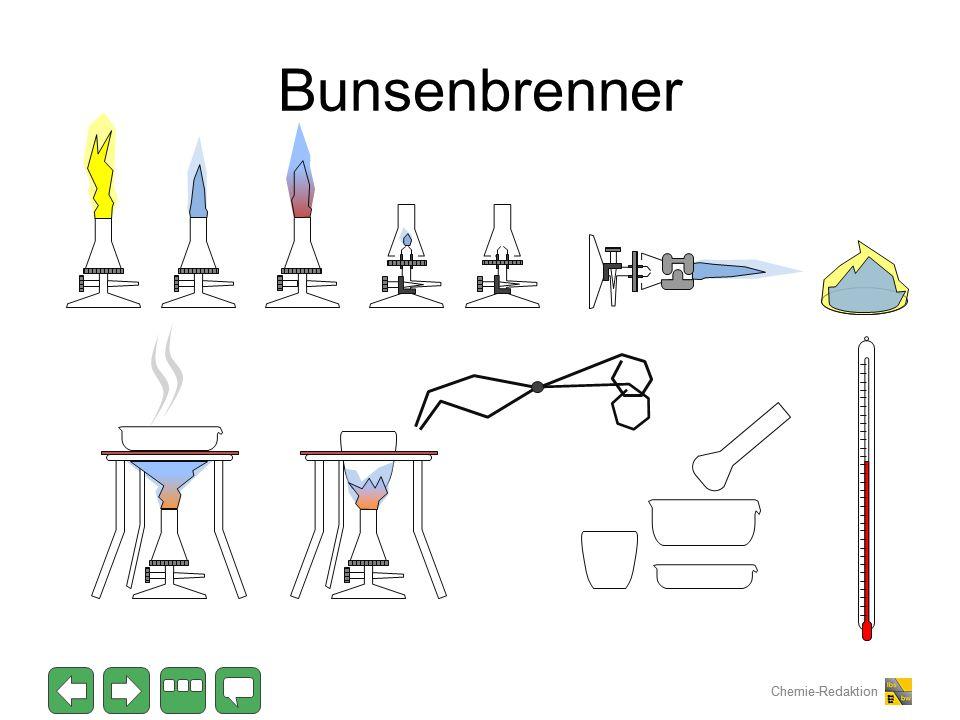 Chemie-Redaktion Bunsenbrenner