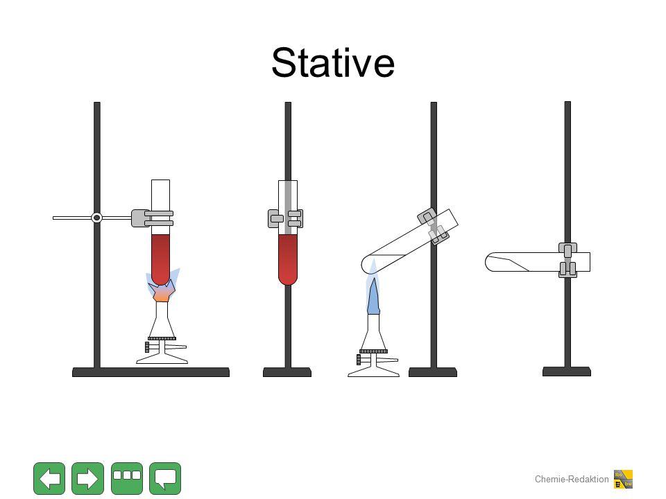 Chemie-Redaktion Stative