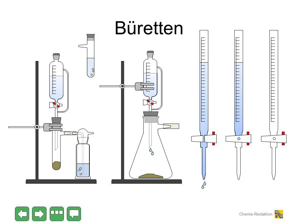 Chemie-Redaktion Büretten