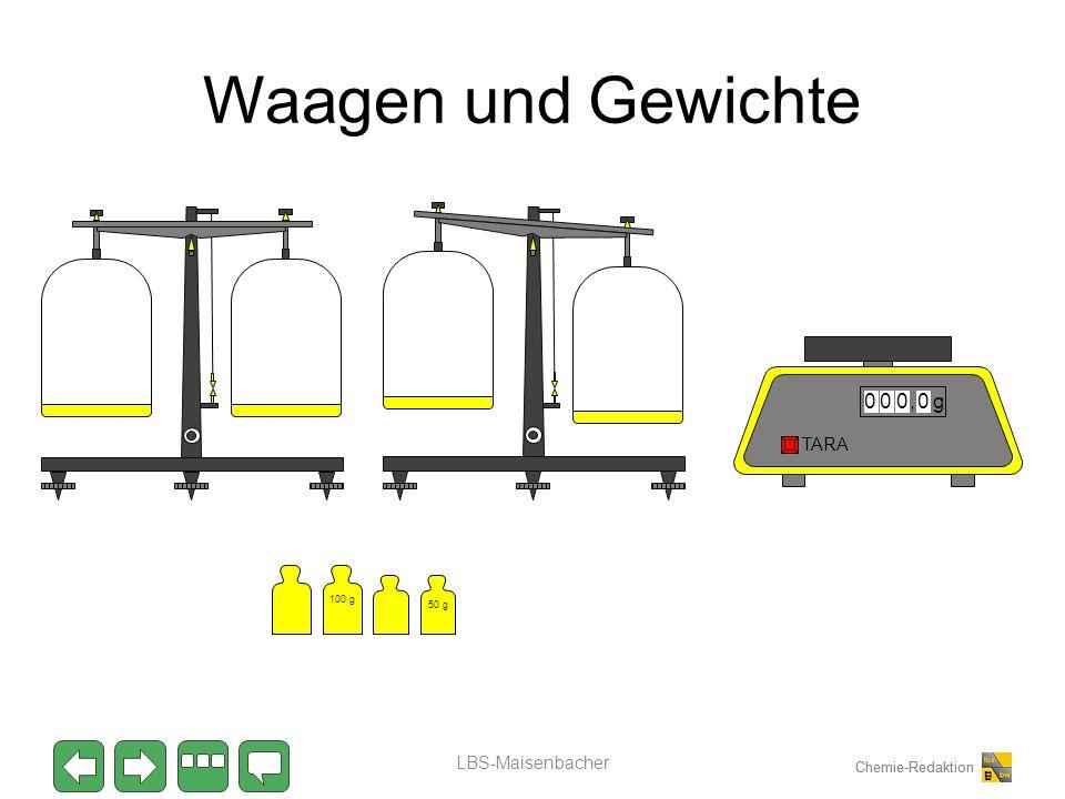 Chemie-Redaktion Waagen und Gewichte LBS-Maisenbacher 100 g 50 g 0000,g TARA