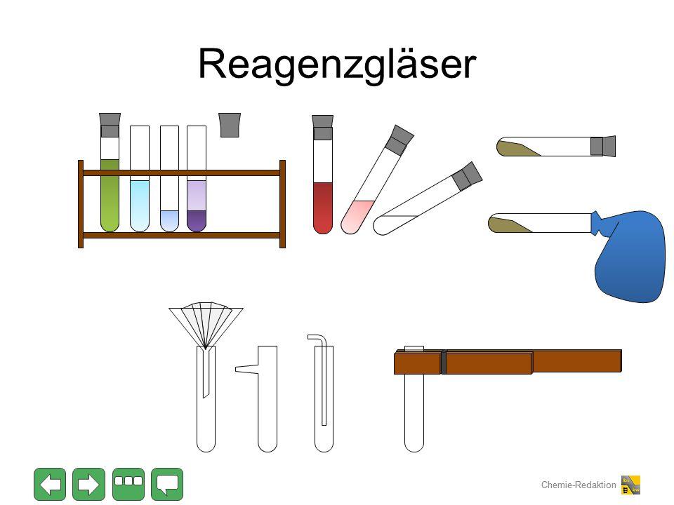 Chemie-Redaktion Reagenzgläser