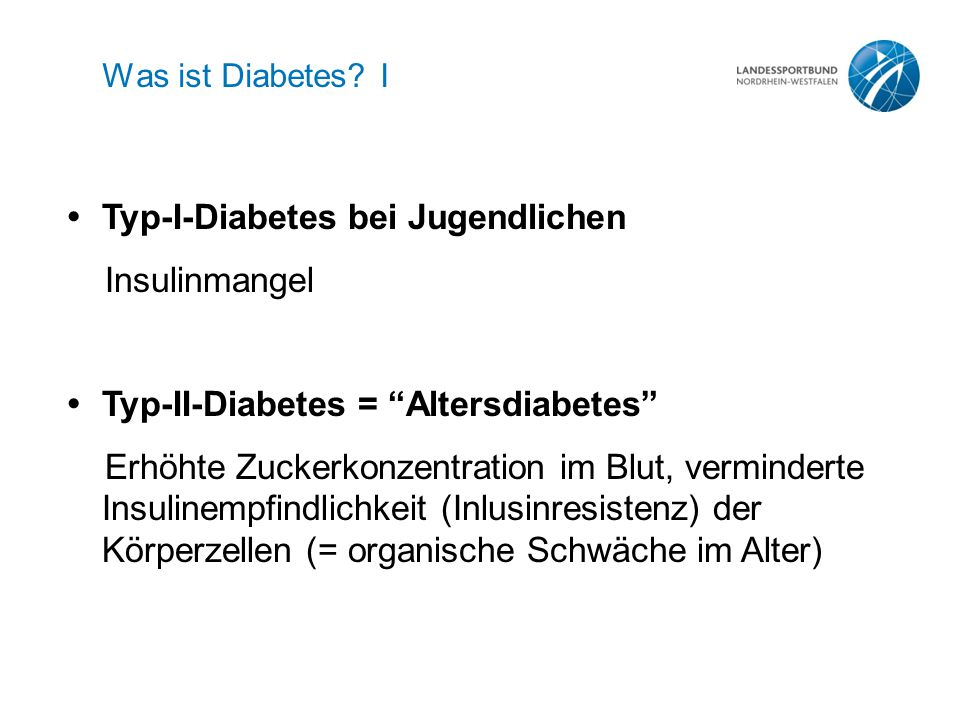 Was ist Diabetes.