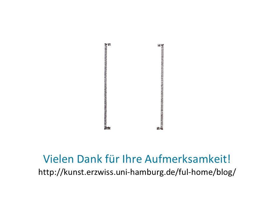 Vielen Dank für Ihre Aufmerksamkeit! http://kunst.erzwiss.uni-hamburg.de/ful-home/blog/