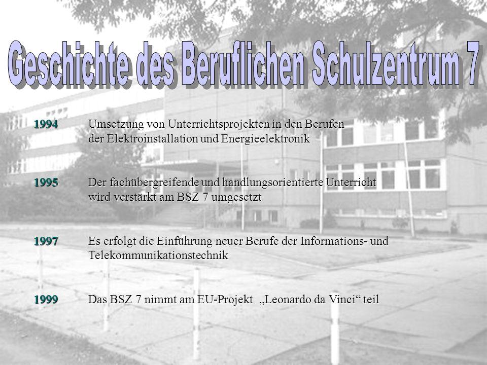 1982 An der Querbreite wird die Kommunale Berufsschule VIII für Bauwesen eröffnet Bauwesen eröffnet 1988 Die Kommunale Berufsschule VI zieht aus der F