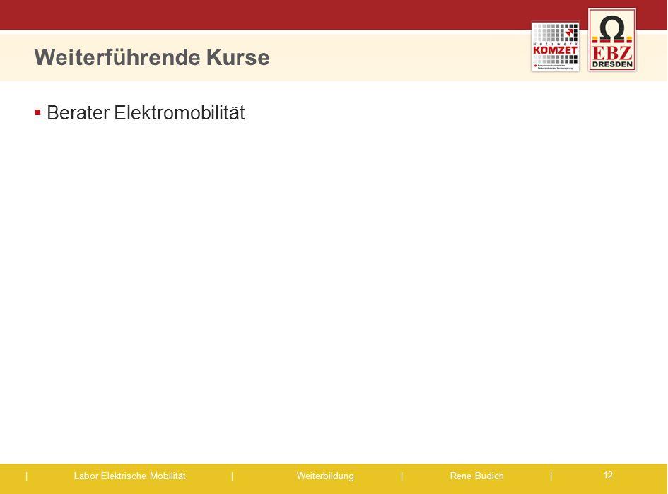 | Labor Elektrische Mobilität |Weiterbildung | Rene Budich | Weiterführende Kurse  Berater Elektromobilität 12