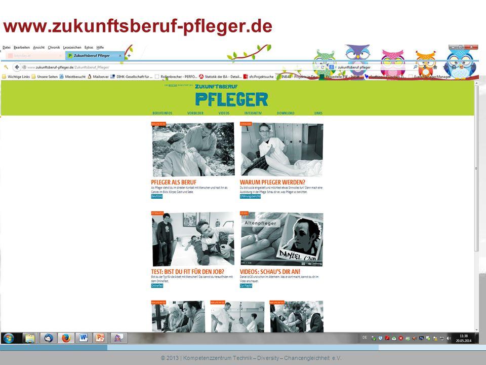 © 2013 | Kompetenzzentrum Technik – Diversity – Chancengleichheit e.V. www.zukunftsberuf-pfleger.de