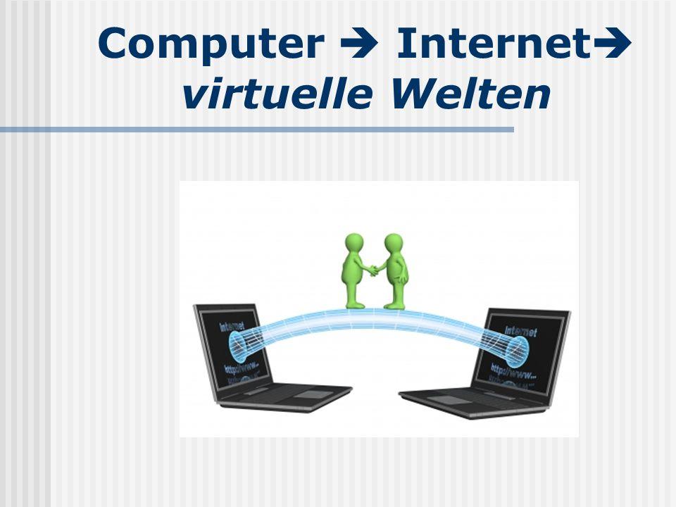 Computer  Internet  virtuelle Welten