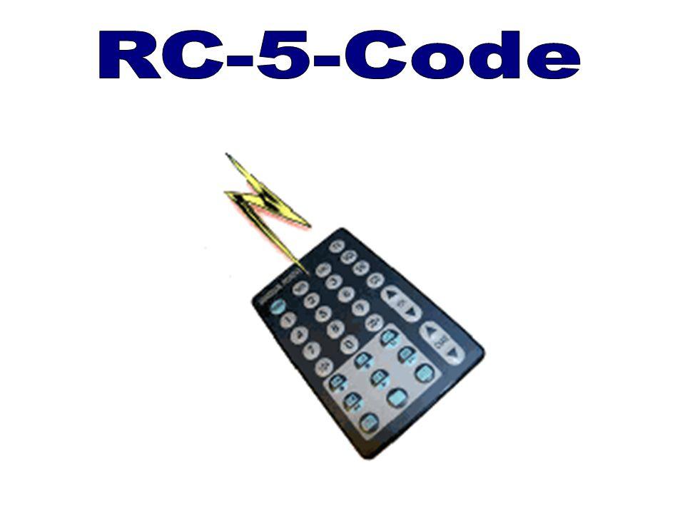 Fernsteuerung beim MicroMaster Befehl zum senden eines RC5 Telegrammes Befehl zum senden eines RC5 Telegrammes RCSEND Pin Nr.,Wordregister Beispiel: MOVWL w0,0x3110;Binär 0011 0001 0001 0000 ;S1 und S2 = 1 ;T = 0 ;Adresse = 4 -> Video LV1 ;Commando = 16 -> Lautstärke + RCSEND 0,w0