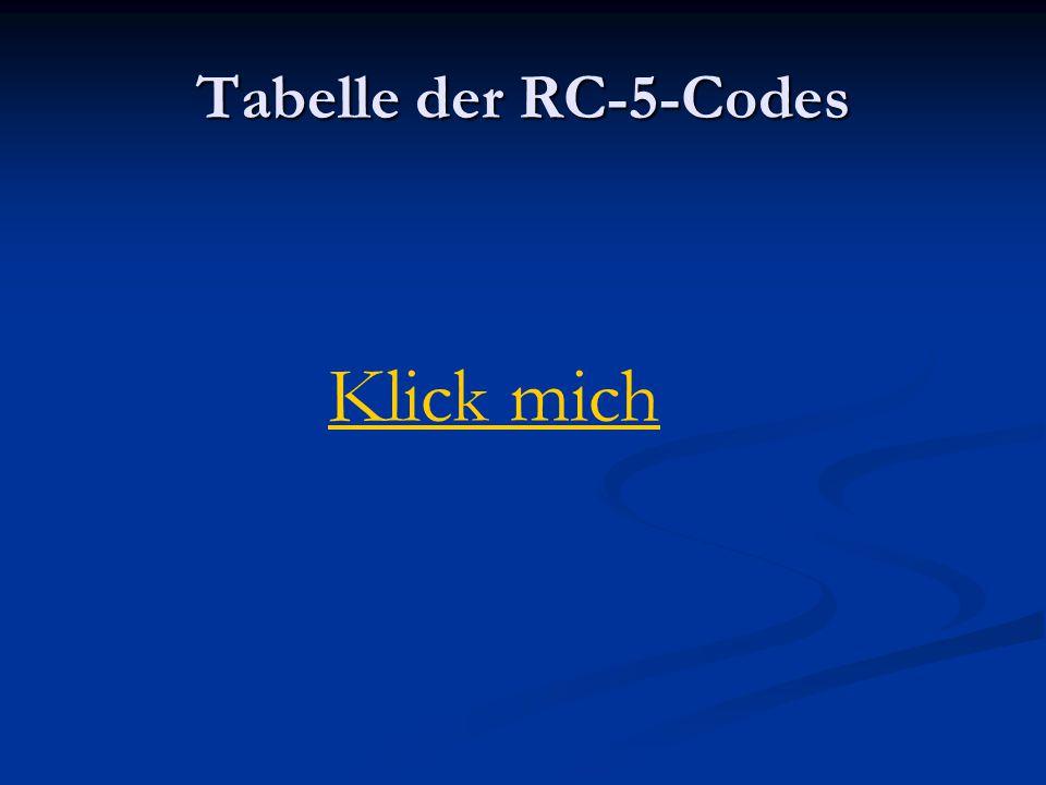 Tabelle der RC-5-Codes Klick mich