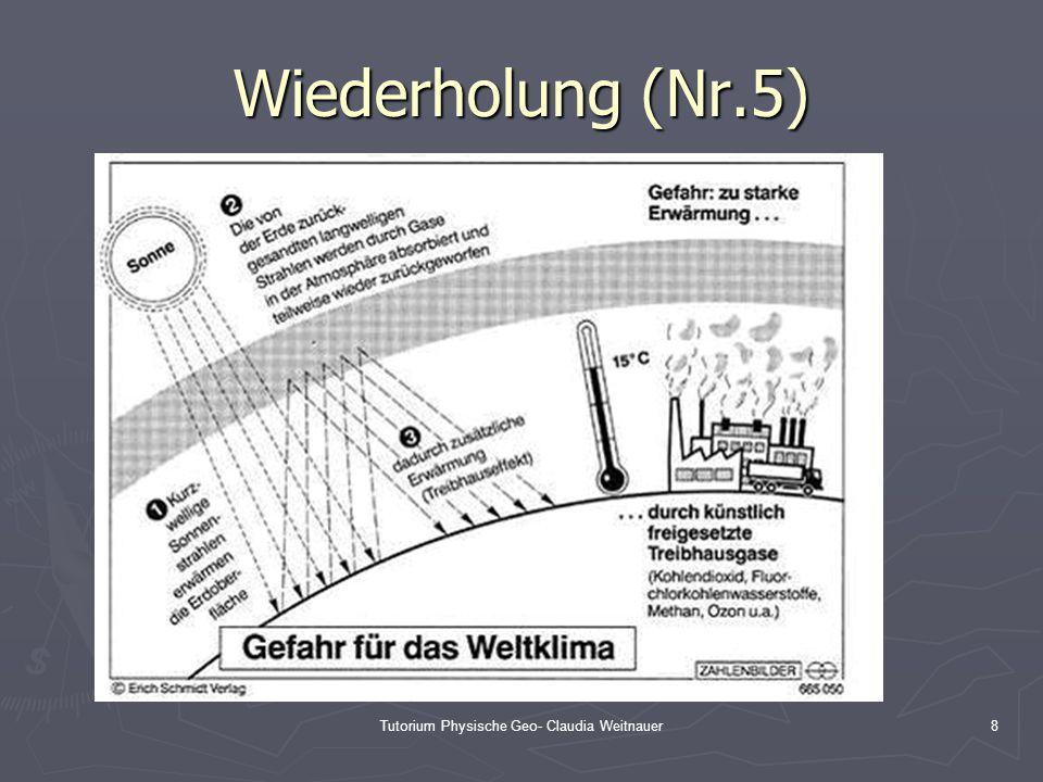 Tutorium Physische Geo- Claudia Weitnauer8 Wiederholung (Nr.5)