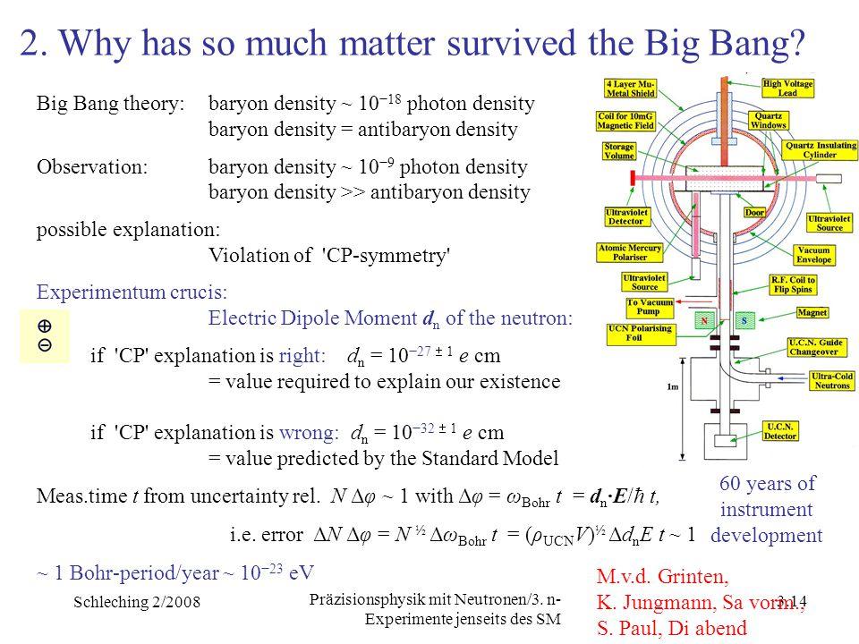 Schleching 2/2008 3.13 Präzisionsphysik mit Neutronen/3.