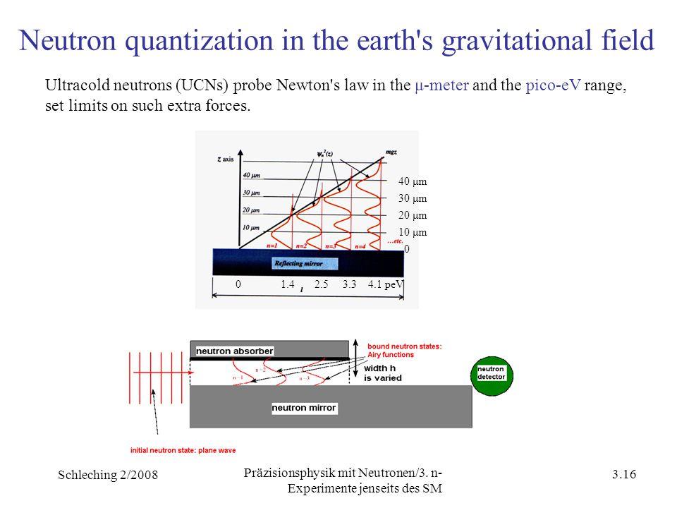 Schleching 2/2008 3.15 Präzisionsphysik mit Neutronen/3.