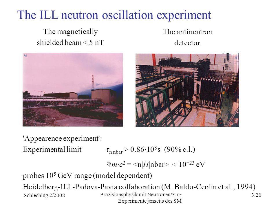 Schleching 2/2008 3.19 Präzisionsphysik mit Neutronen/3.