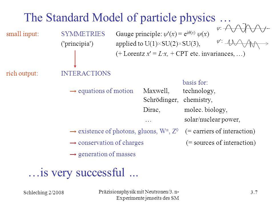 Schleching 2/2008 3.6 Präzisionsphysik mit Neutronen/3.