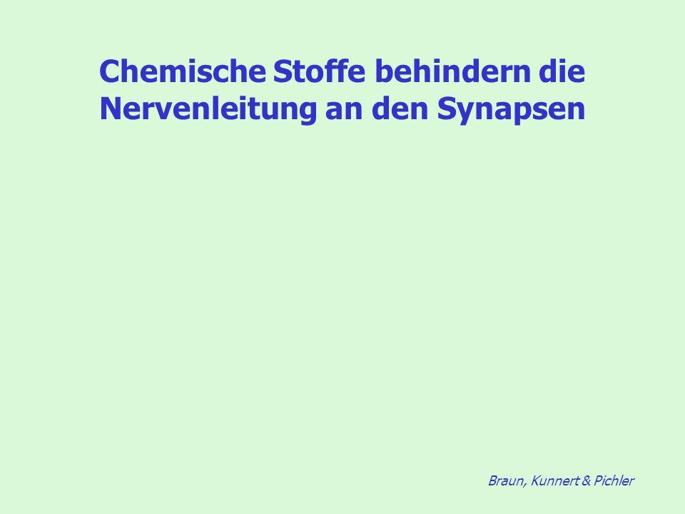 Braun, Kunnert & Pichler Chemische Stoffe behindern die Nervenleitung an den Synapsen