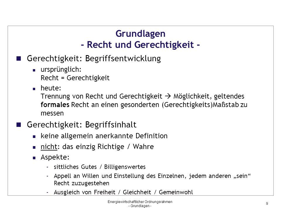"""Energiewirtschaftlicher Ordnungsrahmen - Grundlagen - 20 Grundlagen - Rechtsanwendung – (Fortsetzung) Normauslegung objektive Auslegung (=Wille """"des Gesetzes ist maßgeblich) vs."""
