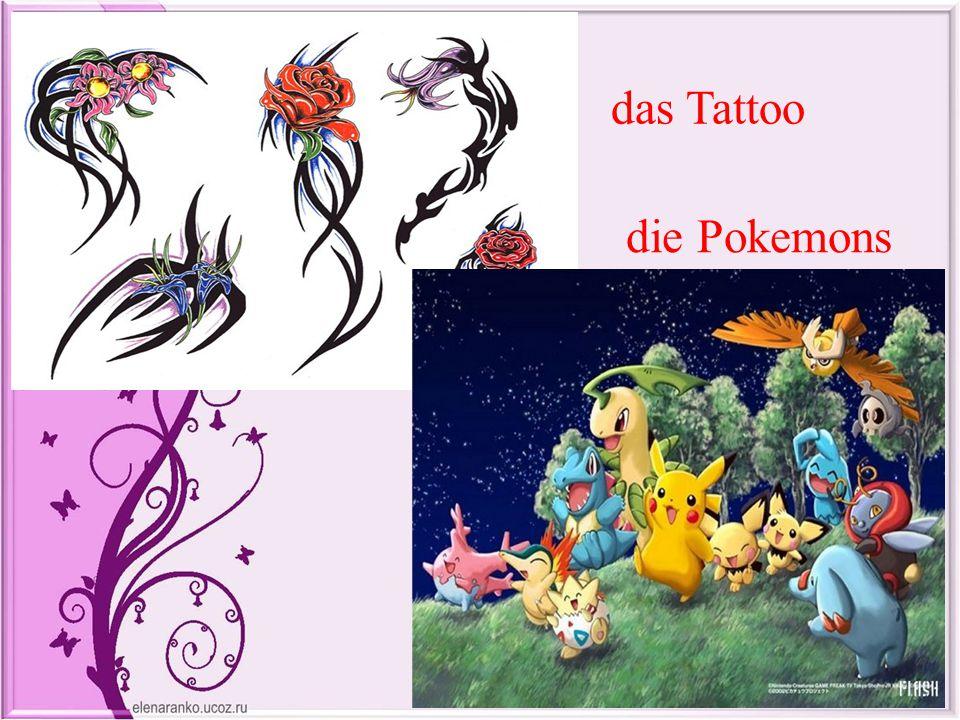 das Tattoo die Pokemons
