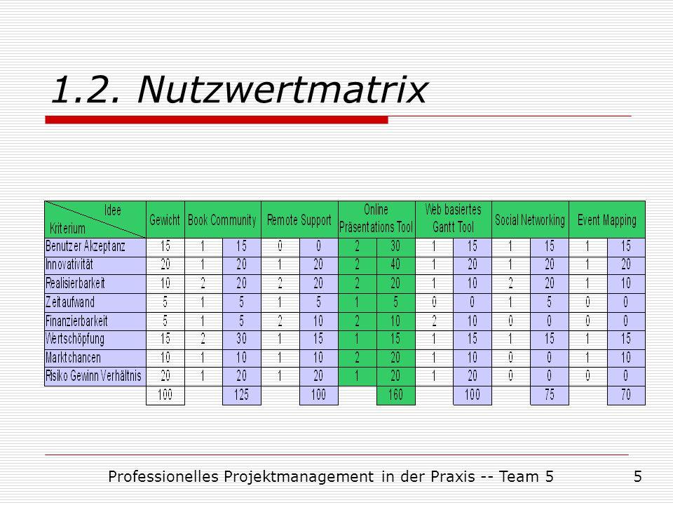 Professionelles Projektmanagement in der Praxis -- Team 516 3.4.