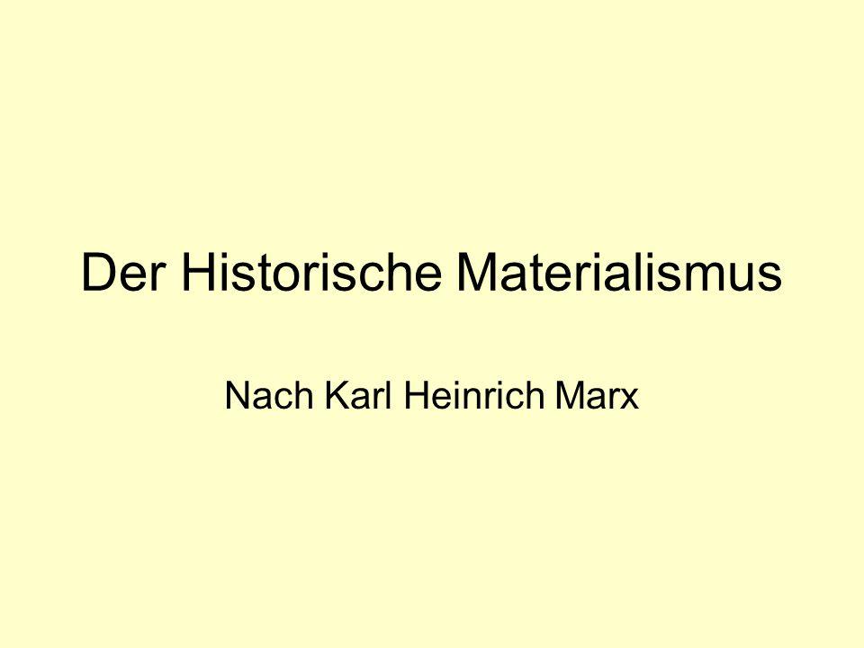 Der Historische Materialismus Nach Karl Heinrich Marx