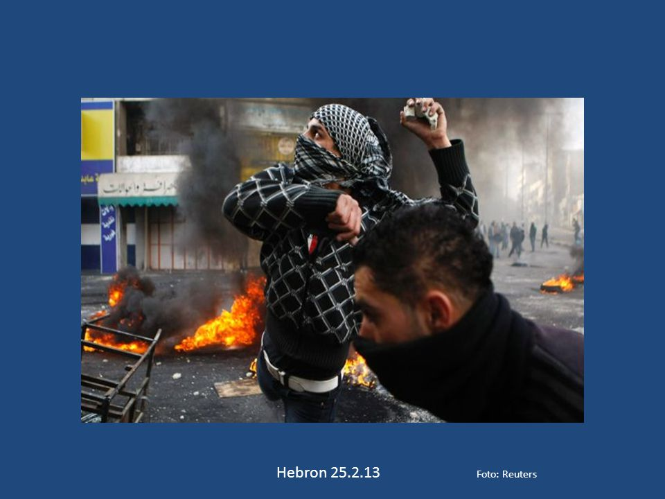 Hebron 25.2.13 Foto: Reuters