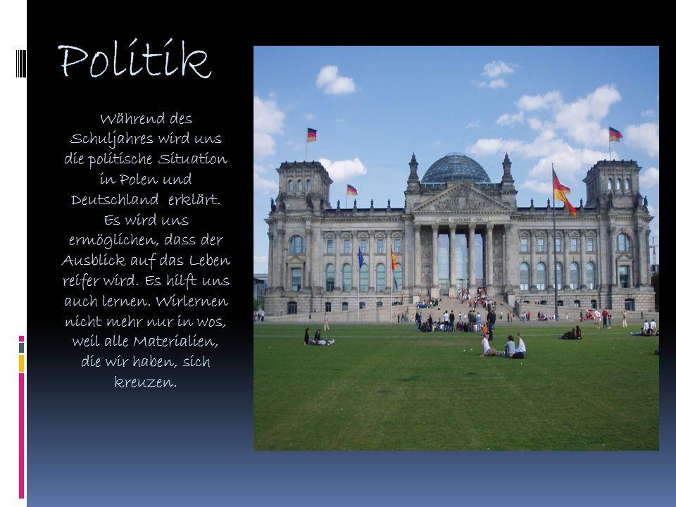 Sport aber Deutschstunde ist nicht nur büffeln.Unser Lehrer erzählt uns von deutschem Sport.