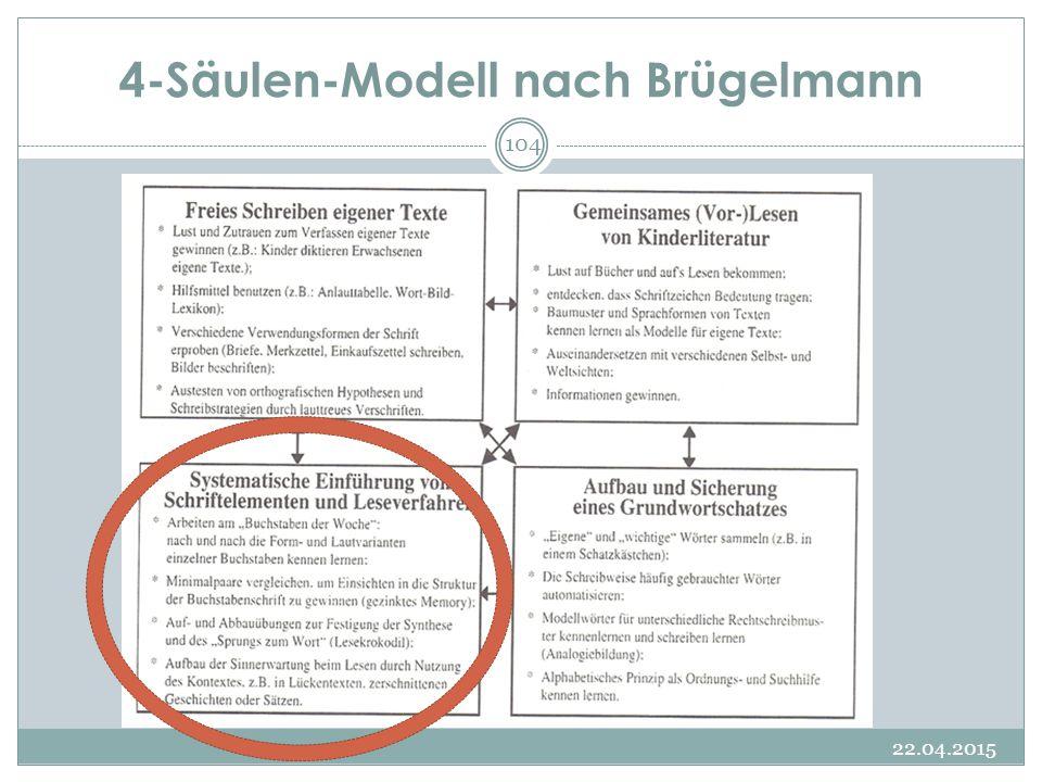 4-Säulen-Modell nach Brügelmann 22.04.2015 104