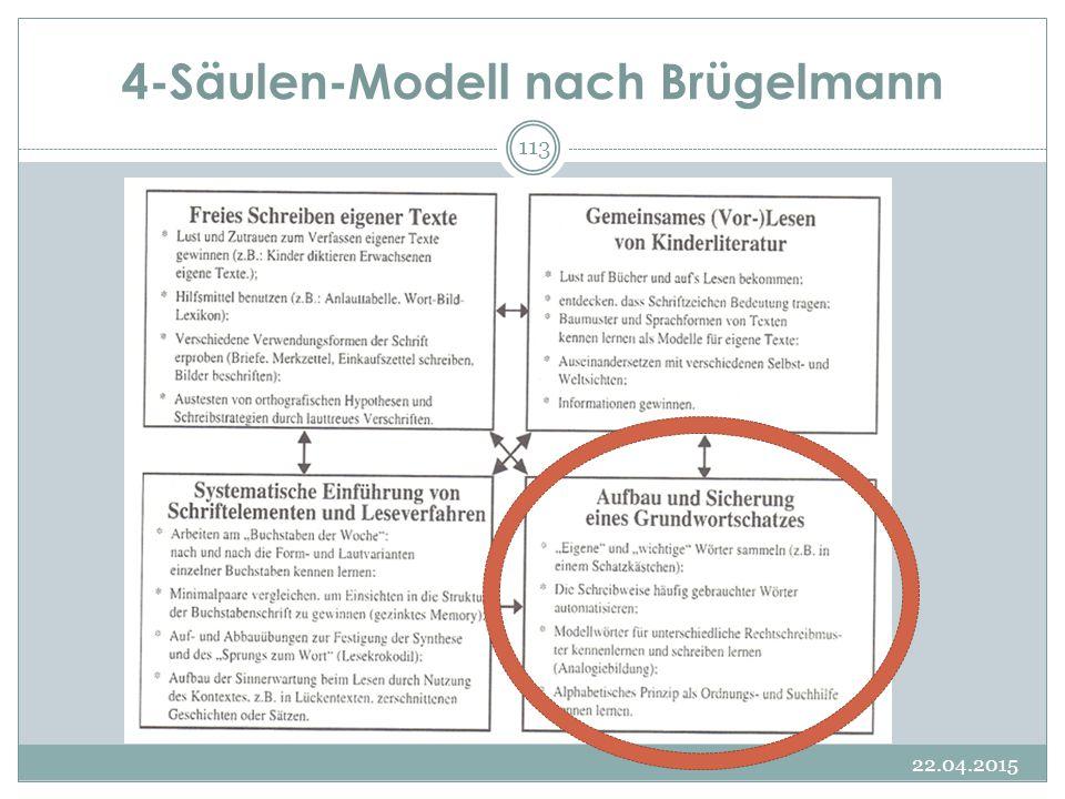 4-Säulen-Modell nach Brügelmann 22.04.2015 113