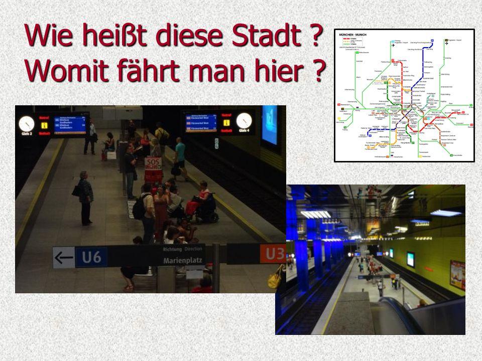 Man kann in München auch mit ICE-Zug fahren, mit der Straßenbahn oder einfach Fahrrad.
