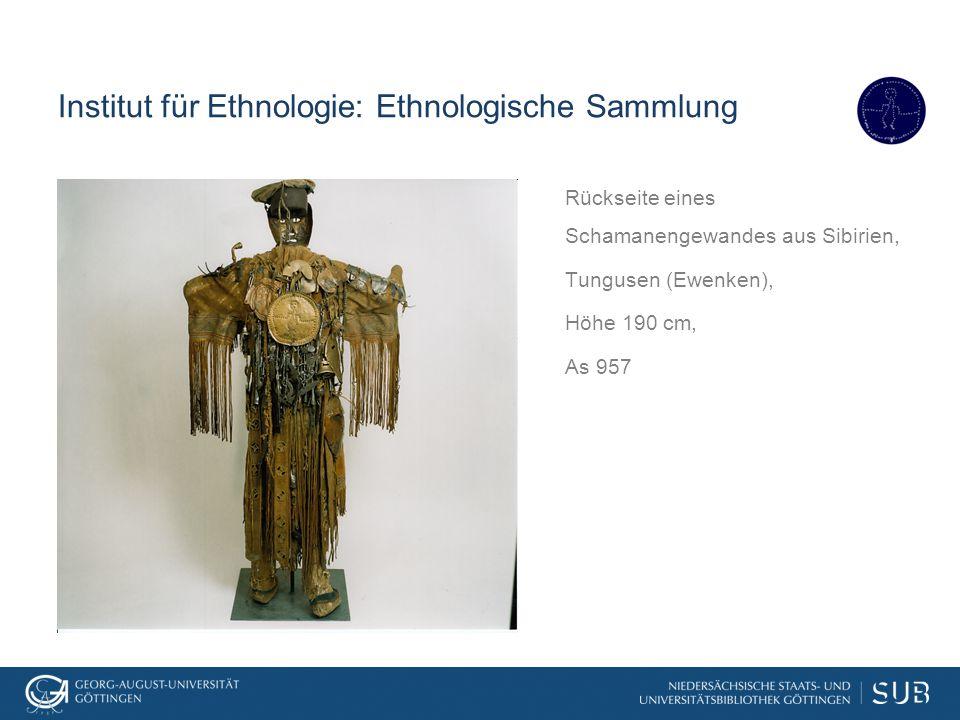 Institut für Ethnologie: Ethnologische Sammlung Rückseite eines Schamanengewandes aus Sibirien, Tungusen (Ewenken), Höhe 190 cm, As 957