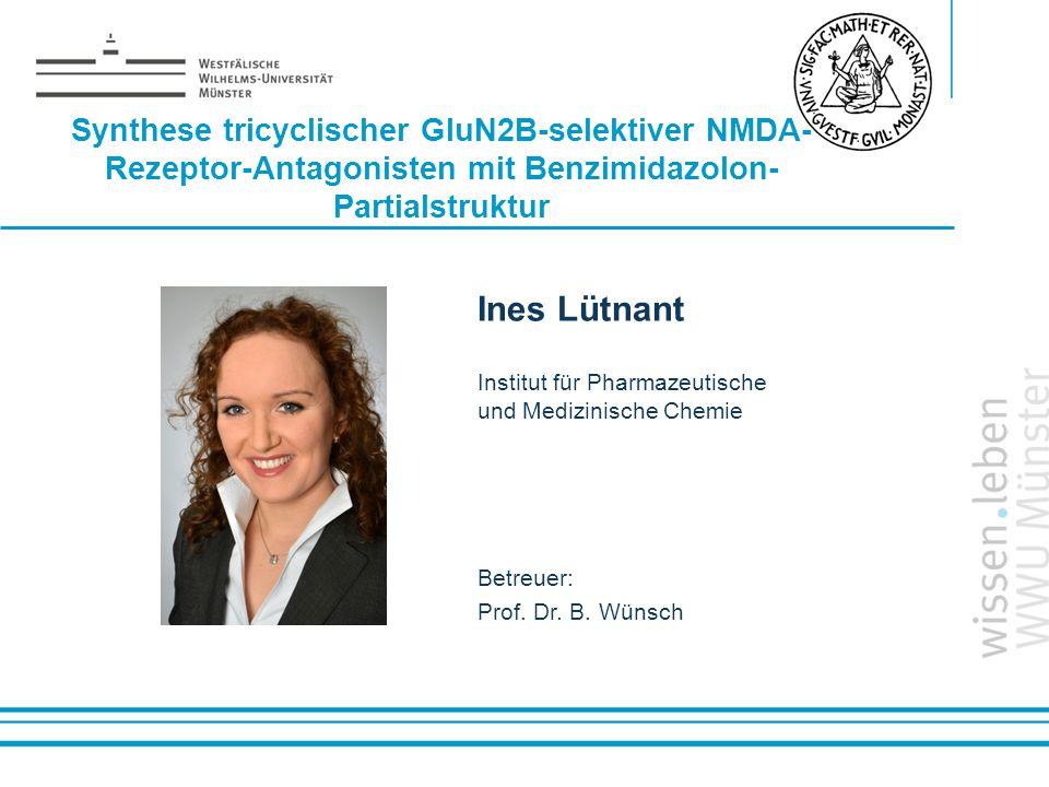 Name: der Referentin / des Referenten Synthese tricyclischer GluN2B-selektiver NMDA- Rezeptor-Antagonisten mit Benzimidazolon- Partialstruktur Ines Lü