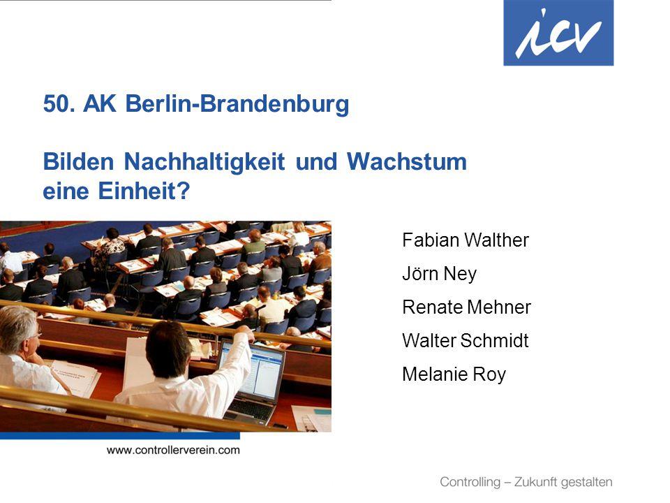 Internationaler Controller Verein eV | www.controllerverein.com | AK Berlin-Brandenburg | 50.