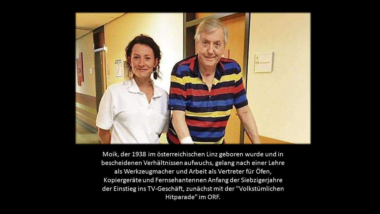 Moik, der 1938 im österreichischen Linz geboren wurde und in bescheidenen Verhältnissen aufwuchs, gelang nach einer Lehre als Werkzeugmacher und Arbeit als Vertreter für Öfen, Kopiergeräte und Fernsehantennen Anfang der Siebzigerjahre der Einstieg ins TV-Geschäft, zunächst mit der Volkstümlichen Hitparade im ORF.