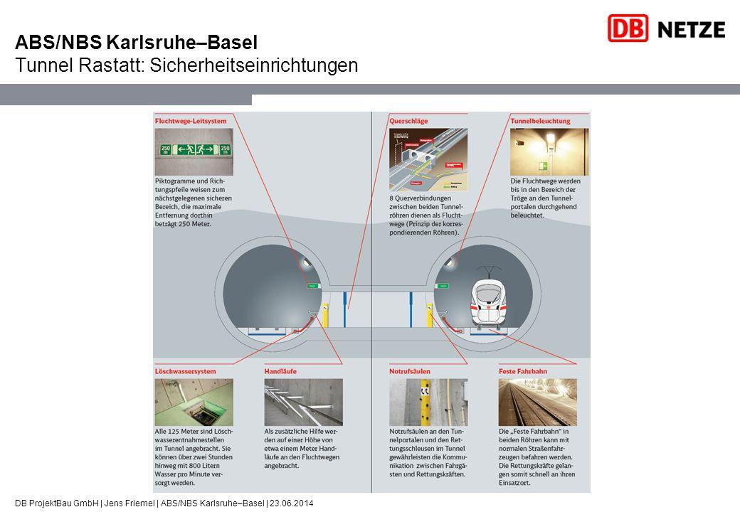 DB ProjektBau GmbH | Jens Friemel | ABS/NBS Karlsruhe–Basel | 23.06.2014 ABS/NBS Karlsruhe–Basel Tunnel Rastatt: Sicherheitseinrichtungen
