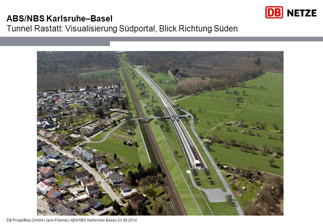 DB ProjektBau GmbH | Jens Friemel | ABS/NBS Karlsruhe–Basel | 23.06.2014 ABS/NBS Karlsruhe–Basel Tunnel Rastatt: Visualisierung Südportal, Blick Richt