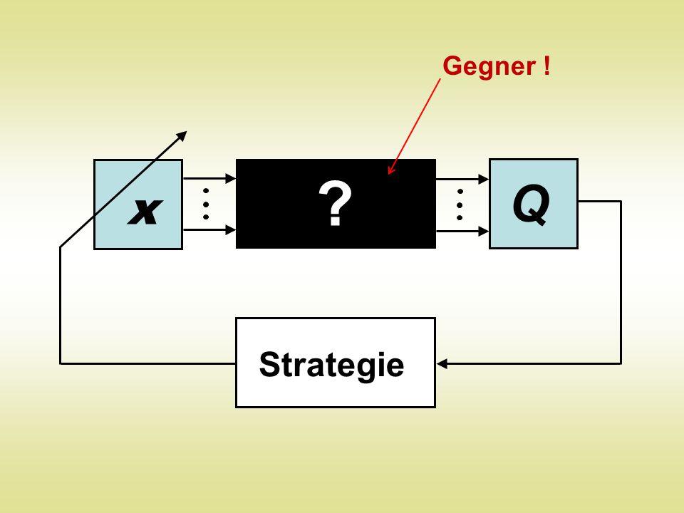 Q x ? Strategie Gegner !