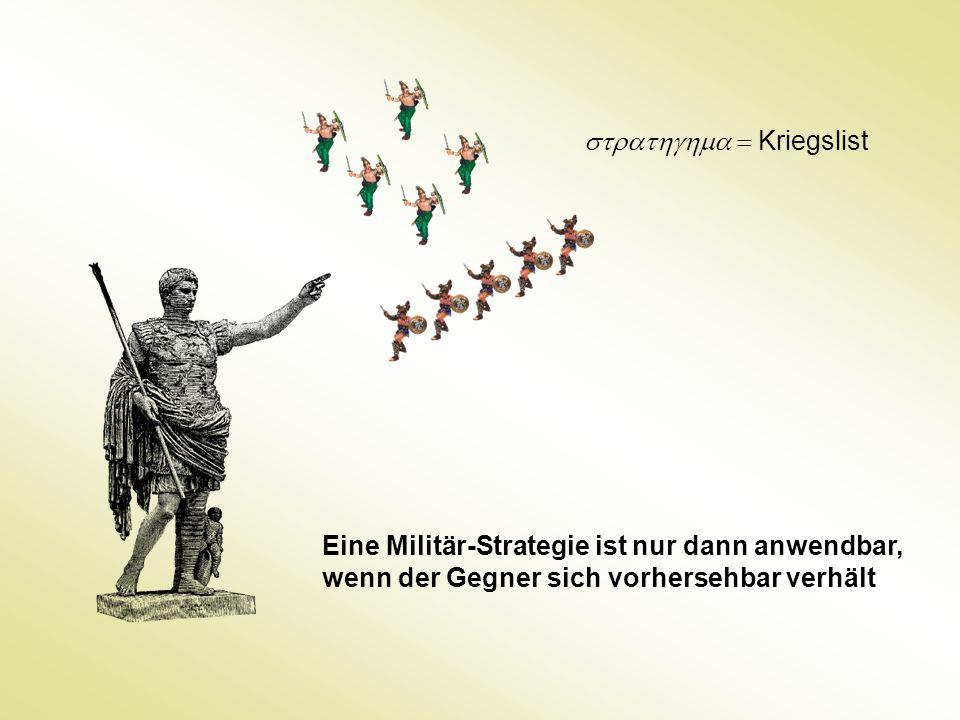 Eine Militär-Strategie ist nur dann anwendbar, wenn der Gegner sich vorhersehbar verhält  Kriegslist